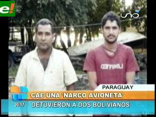 Cae avioneta con droga y dos bolivianos detenidos