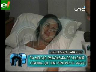 Pía Melgar hospitalizada y embarazada de Vladimir Azurduy
