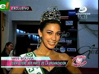Olivia Pinheiro le gustaría ser parte de la organización del Miss Santa Cruz