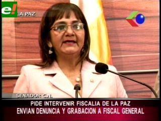 Senadora Carmen Gonzales exige a Fiscal General intervenir Fiscalía paceña