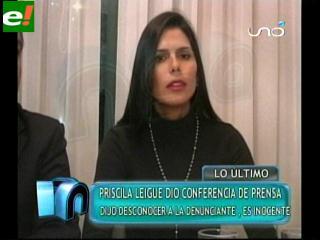 Priscila Leigue da la cara y se defiende