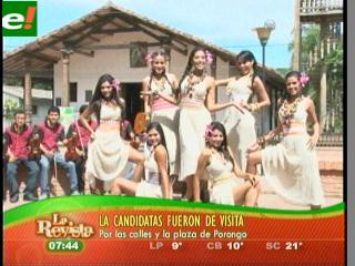Candidatas al Miss Santa Cruz 2011 visitaron Porongo