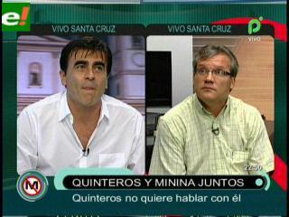 Gustavo Quinteros no quiso debatir con periodista «Minina» Ardaya en vivo