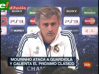 Calientan el clásico: Mourinho ataca a Guardiola
