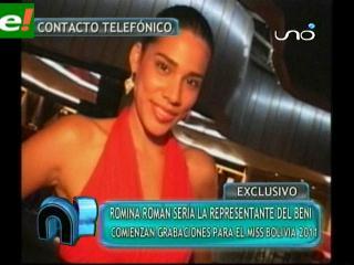 Romina Román representará al Beni en el Miss Bolivia 2011
