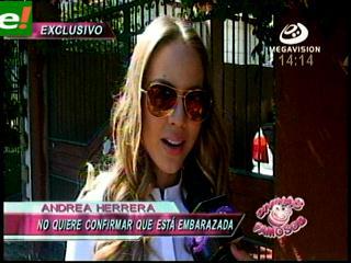 Andrea Herrera ¿embarazada?