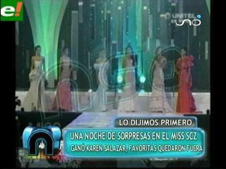 Las sorpresas del Miss Santa Cruz 2011