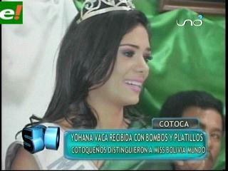 Johana Vaca se emocionó en Cotoca