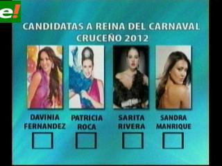 Aparecen 4 favoritas para Reina del Carnaval Cruceño 2012
