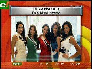 Olivia Pinheiro entre las favoritas del Miss Universo 2011