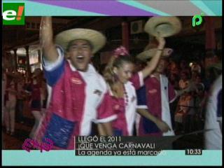 Agenda carnavalera 2011 ya está programada