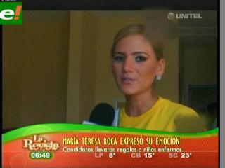 María Teresa Roca visitó hospitales en Colombia