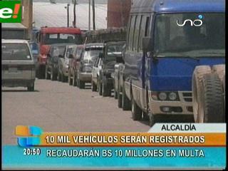 Alcaldía cruceña recaudará bs. 10 millones por multa de autos chutos