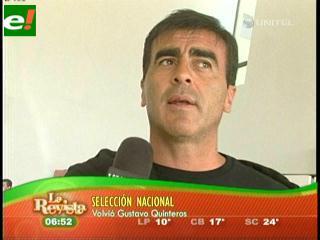 Gustavo Quinteros comienza el trabajo en la selección