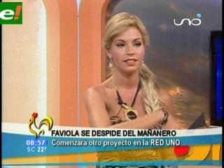 """Faviola Roca se despidió del """"mañanero"""""""
