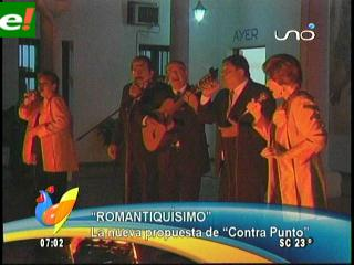 «Romantiquísimo» nuevo disco de Contrapunto