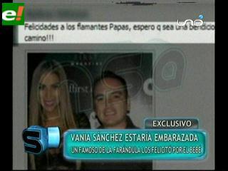 Vania Sánchez estaría embarazada