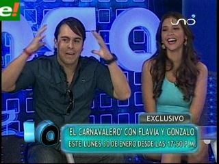 Flavia y Gonzalo conducirán el carnaval en la Red Uno