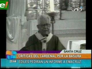 Cardenal Julio Terrazas: «Tenemos una ciudad llena de basura»
