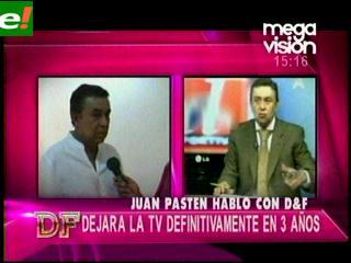 Juan Pastén se retira de la tv