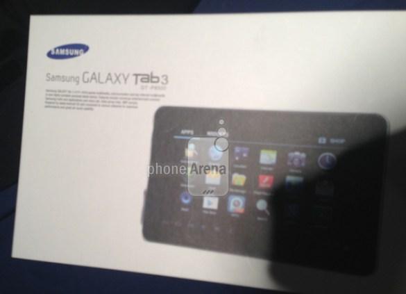 Imagen filtrada de la caja de una Samsung Galaxy Tab 3