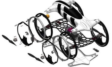 B, el cuadricóptero híbrido