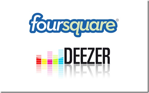 foursquare- -deezer