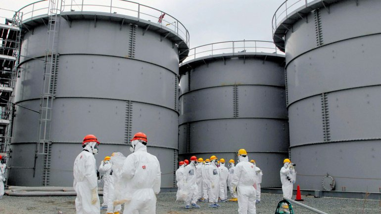 Trabajadores de la planta de Fukushima, Japón