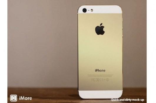 iphone dorado concepto
