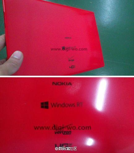 Imagen Nokia tablet con Windows RT en rojo.