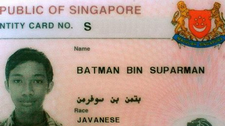 La identificación de Batman bin Suparman