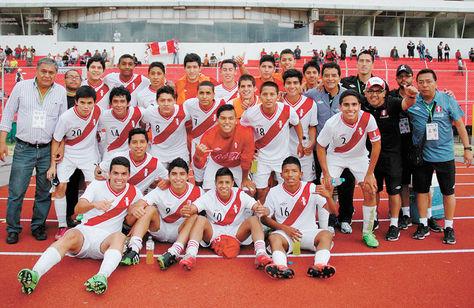 Alegría. La celebración por el pase de los jugadores de la selección peruana Sub-15.
