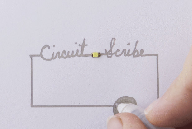 Circuit Scribe, el boli con el que podrás dibujar circuitos totalmente funcionales sobre una hoja de papel