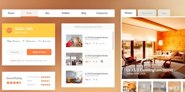Real estate booking UI