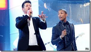 Con el tema Blurred Lines, Robin Thicke y Pharrell Williams han dominado las pistas de baile.