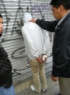 POLICÍA. El personal del ministro Carlos Romero aprehendió a antisocial infraganti.