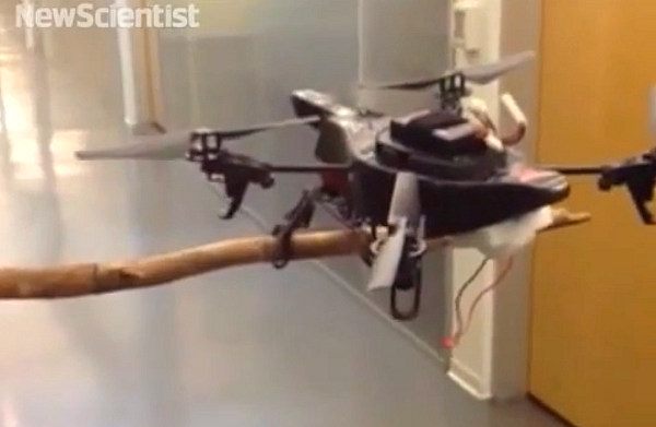 Drones con patas que caminan y se posan en los árboles como si fueran pájaros