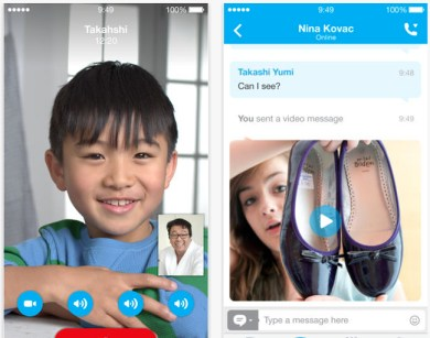 Skype para iOS se actualiza para adaptar su interfaz a iOS 7.