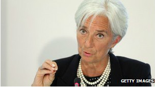 Cristine Lagarde, del Fondo Monetario Internacional