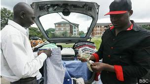 Venta de pantalones en Zimbabue