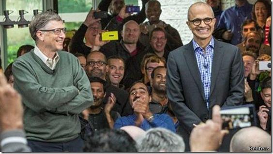 El legado de Gates podría ser de utilidad para Nadella