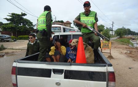 Perro-no-abandona-a-su-dueno-a-pesar-de-ser-detenido-por-la-Policia