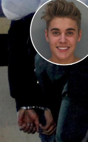 Justin Bieber, Handcuffs
