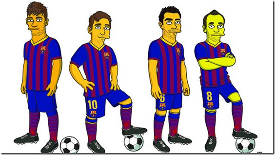 Simpsons_Iniesta_Messi_Xavi_Neymar
