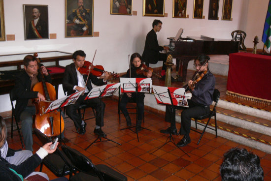 PRESENTACIÓN. Músicos de la fundación Musikal Sucre.