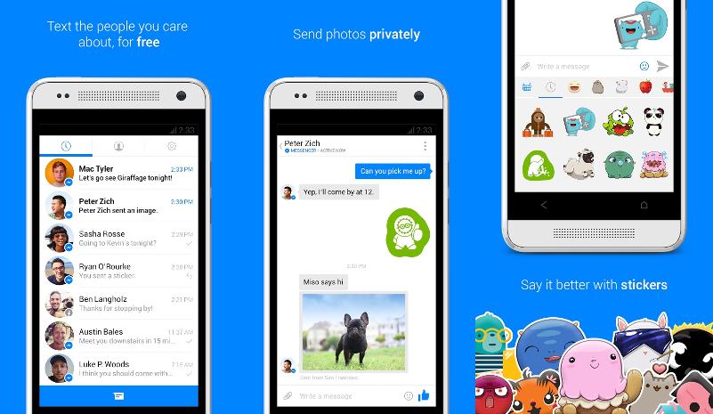 facebook messenger aplicaciones bonitas para android