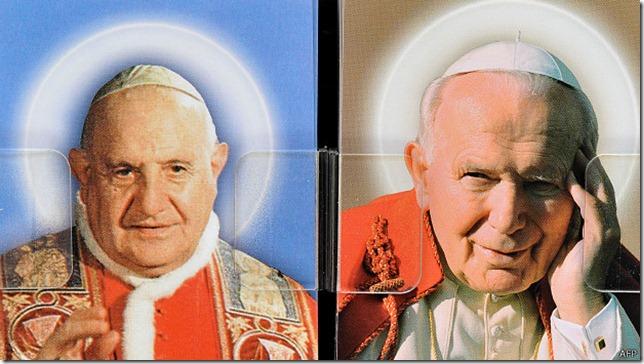 Esta es la primera vez que se produce una canonización de dos papas al mismo tiempo.