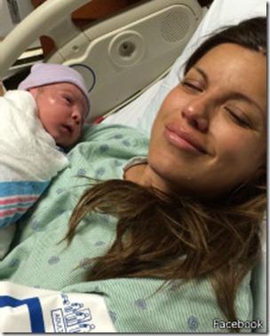 Jossette y Jerónimo, recién nacido.
