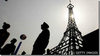 La Torre Eiffel de Pekín. También hay una copia en Hangzhou, en la provincia de Zhejiang.