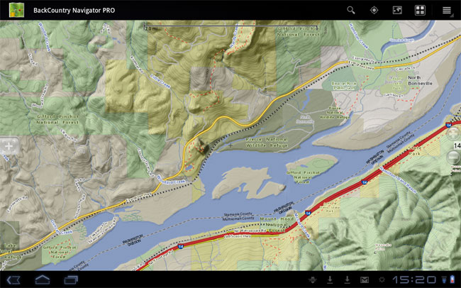 BackCountry Navigator, captura de pantalla